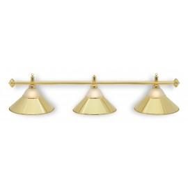 lampa 3 kov + sklo zlatá CLUB