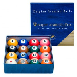 set of pool balls Super Aramith TV Pro Cup 57.2 mm