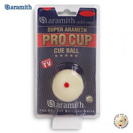 1pc Super Aramith ball 57.2 mm (6 red dots)