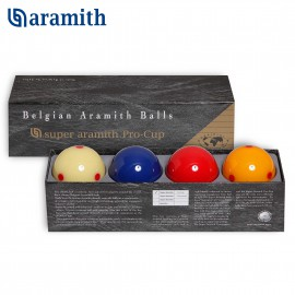 carom set of professional balls Super Aramith Pro-Cup. 61.5 mm diameter ball.