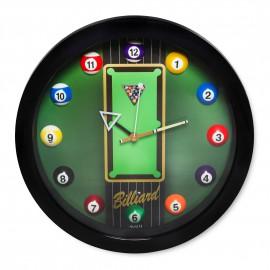hodiny s motivem billiard 28cm
