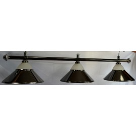 3 lamp alu glass BLACK CLUB