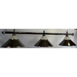 lampa 3 kov + sklo černá CLUB