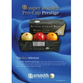 sada koulí karambol Super Aramith Pro-Cup Prestige 61,5 mm (3 ks)