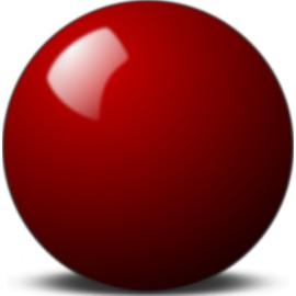 Červená koule 48 mm
