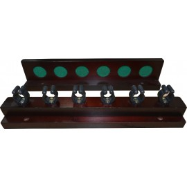 6-holes hardwood deluxe rack