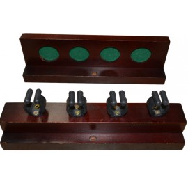 4-holes hardwood deluxe rack