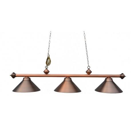 3 lamp Antique Brown