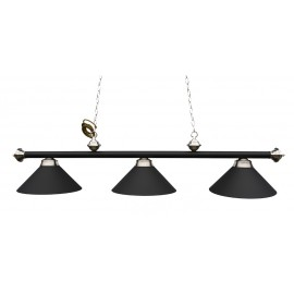 3 lamp Antique Black