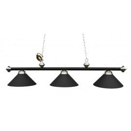 3 lamp Antique Black