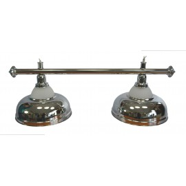 2 lamp alu glass CROWN SILVER