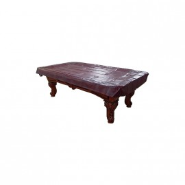 9´ft heavy duty vinyl table cover mahogany
