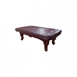 8´ft heavy duty vinyl table cover mahagony