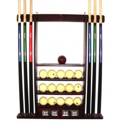 wall cue rack de luxe colour mahagony