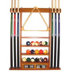 wall cue rack de luxe colour oak