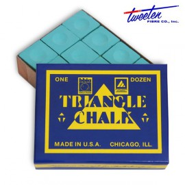 Triangle green chalk  12 pcs