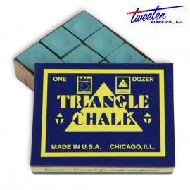 Triangle dark green chalk  12 pcs