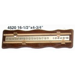 oak scoring board for snooker
