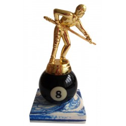trophy player on the 8-ball