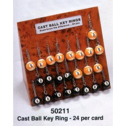 35mm.8 and 9 ball key ring 1pc