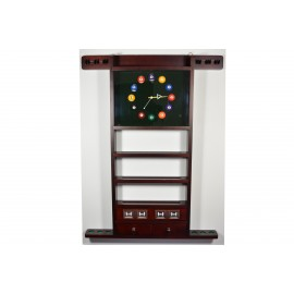 wall rack for 6 cues mahagony