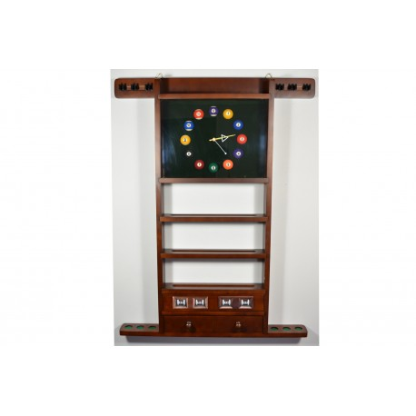wall rack for 6 cues walnut