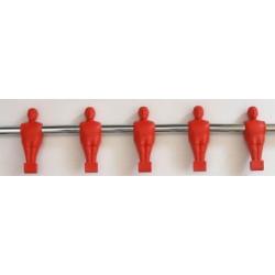 průběžná tyč 5 hráčů Garlando červená nebo modrá