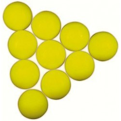 soccer ball yellow 34mm 10pcs