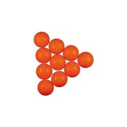 soccer ball orange 34mm 10pcs