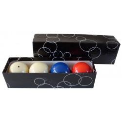 Set of balls carom 61.5 mm (4 pcs)